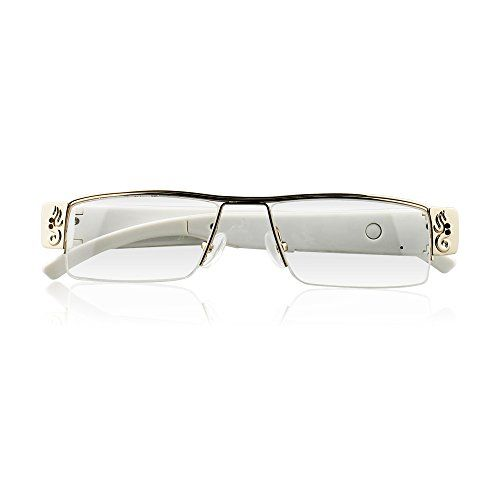 icemoon Spy Camera Eyeglasses Loop Video Recorder Portable Hidden Cam (White) #deals