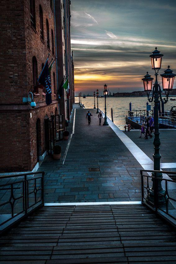 Sunset in Venice, Italy, province of Venezia , Veneto