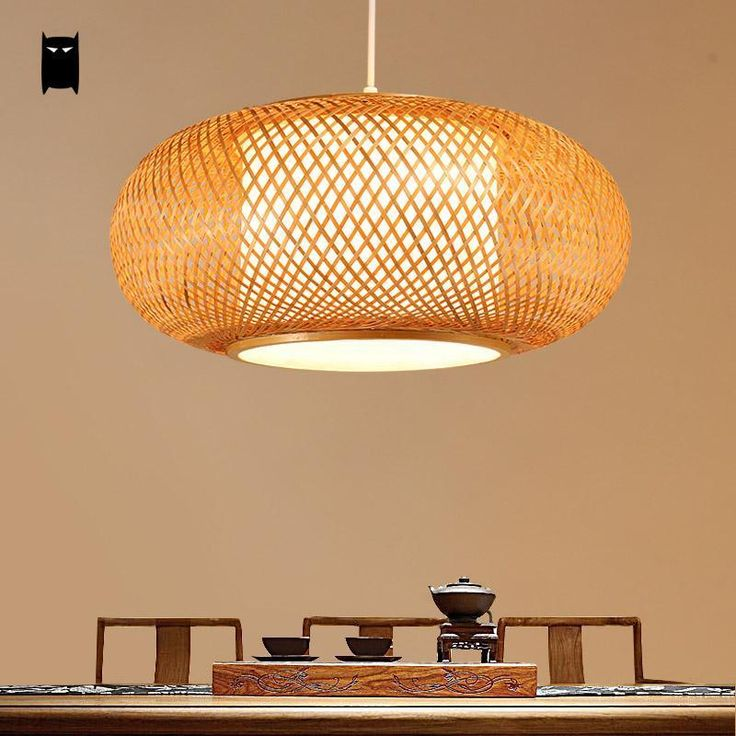 Bamboo wicker rattan shade pendant light fixture asian ceiling lamp chandelier soleilchat asian
