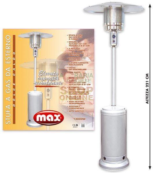 MAX STUFA A GAS DA GIARDINO A FUNGO https://www.chiaradecaria.it/it/max/12273-max-stufa-a-gas-da-giardino-a-fungo-8017365016180.html