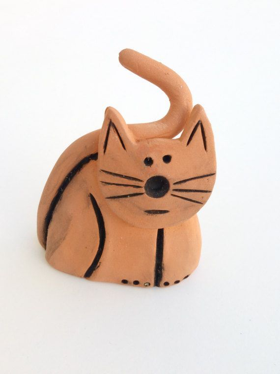 Clay Cat Handmade