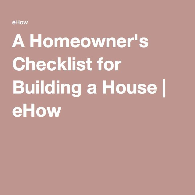 best 25 building a house checklist ideas on pinterest