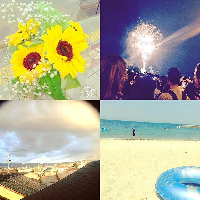 【i_am_nark】さんのInstagramをピンしています。 《夏休みも残りちょっと😦  まだまだ行きたいところリストにあげたら  5個も10個もあった😦(笑)  夏休みは終わるけど夏はまだ終わらんから  行きたいところやりたいこと全部果たす✔️ #夏っぽい写真#ひまわり#花火#虹#海》