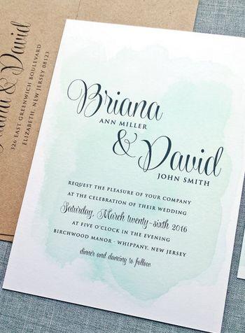 Gorgeous watercolor invitation