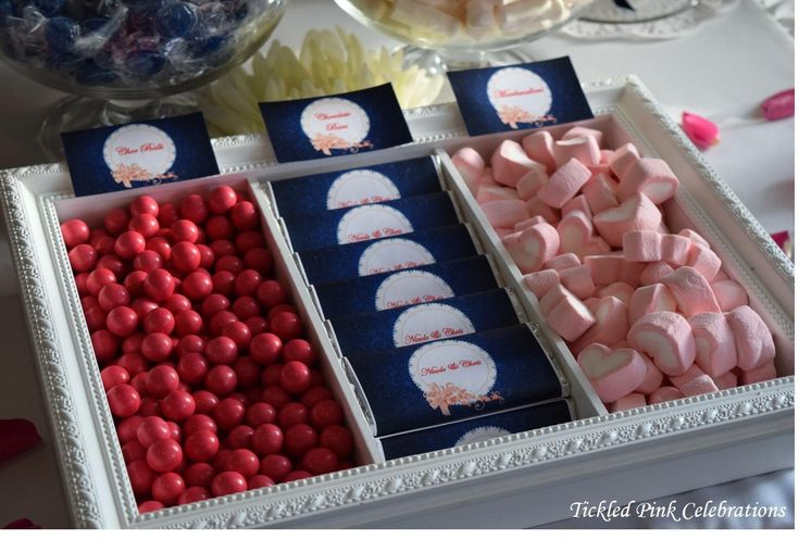 Lolly Buffet pink and blue French provincial vintage Lolly Buffet engagement party