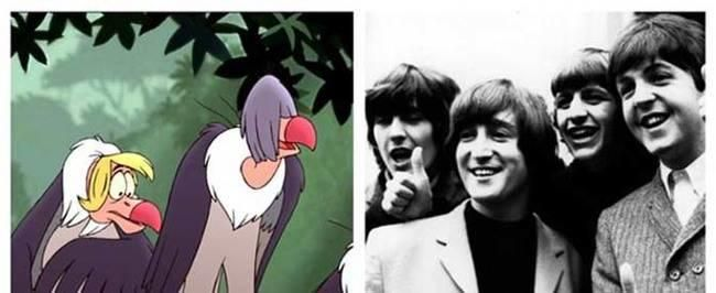 The Jungle Book's vultures were very much based off of The Beatles.