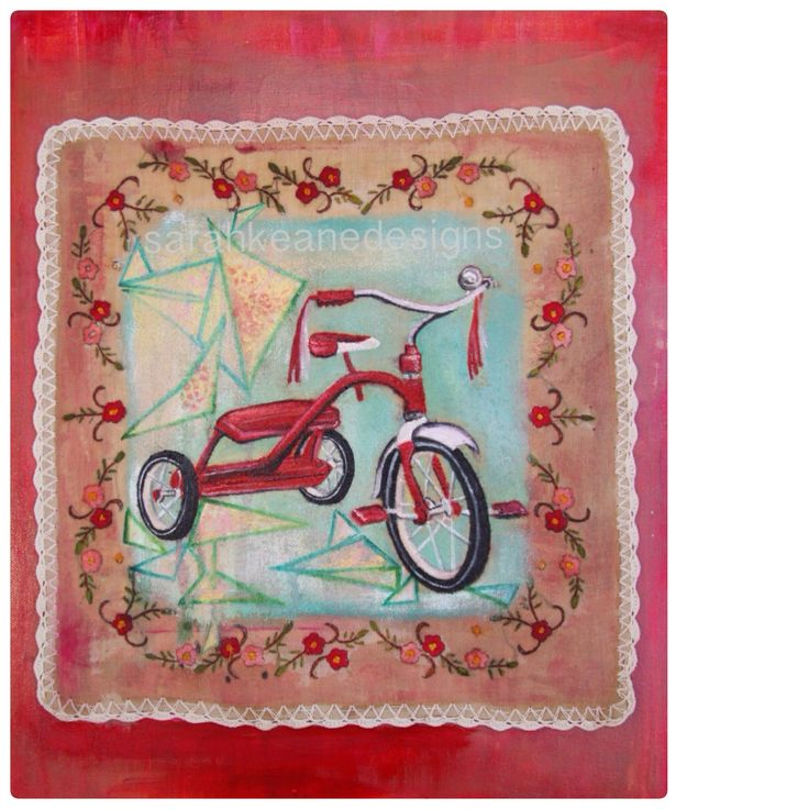 """I love to ride my tricycle"" by Sarah Keane Designs"