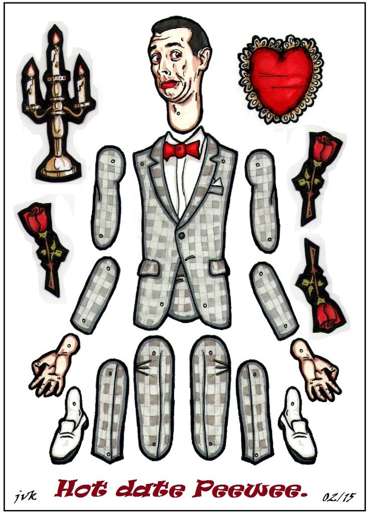 Hot date Peewee paper doll prize! by MadunTwoSwords.deviantart.com on @DeviantArt