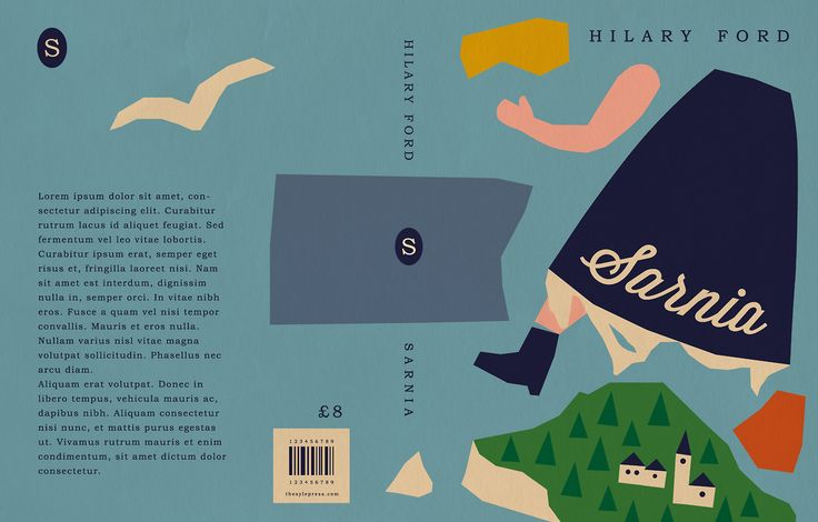 Anna Kovecses.Cover for for Sarnia, a novel written by Hilary Ford and published by The Syle Press in 2014.