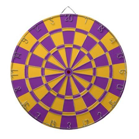 Purple And Gold Dartboard - click/tap to personalize and buy