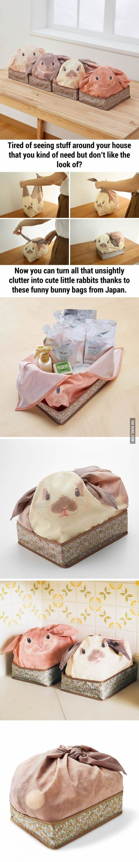 Bunny Bags From Japan That Turn Your Household Stuff Into Rabbits- I NEED THIS