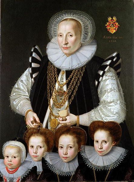 1598 Gortzius Geldorp, Mother with four daughters: