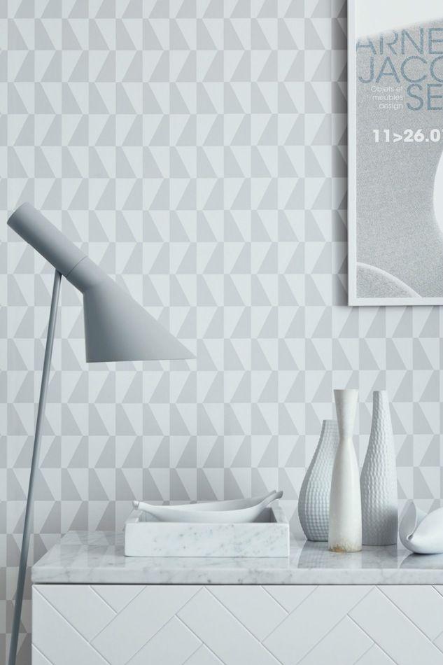 papel pintado geométrico Jacobsen gris