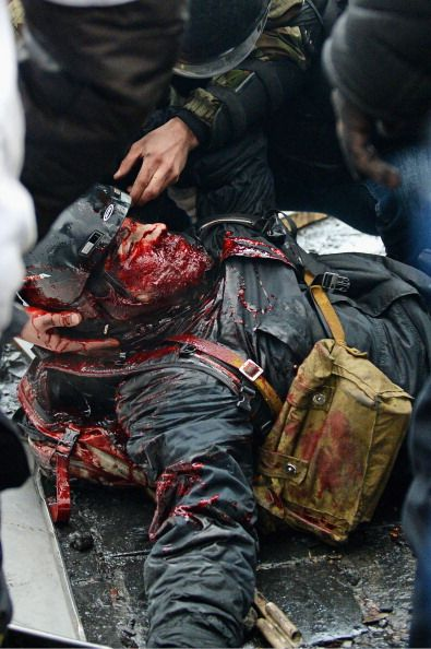More than 100 Ukrainians murdered by the pro-Russian government. 20-2-2014