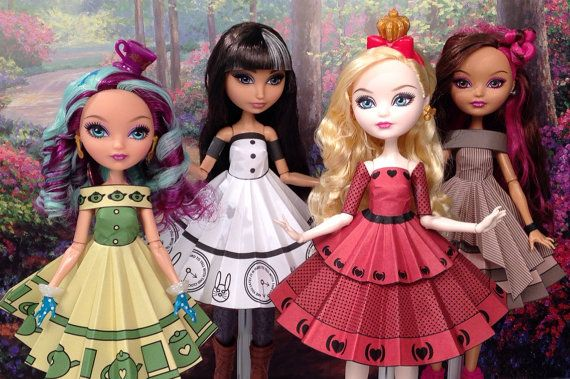 Wonderland Printable Doll Clothes - Fits Ever After High and more!