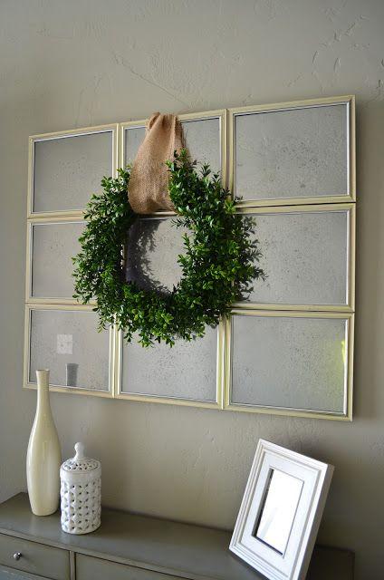 My Best Friend's Blog: Antique Mirror Love this cheap DIY mirror made of dollar store frames.