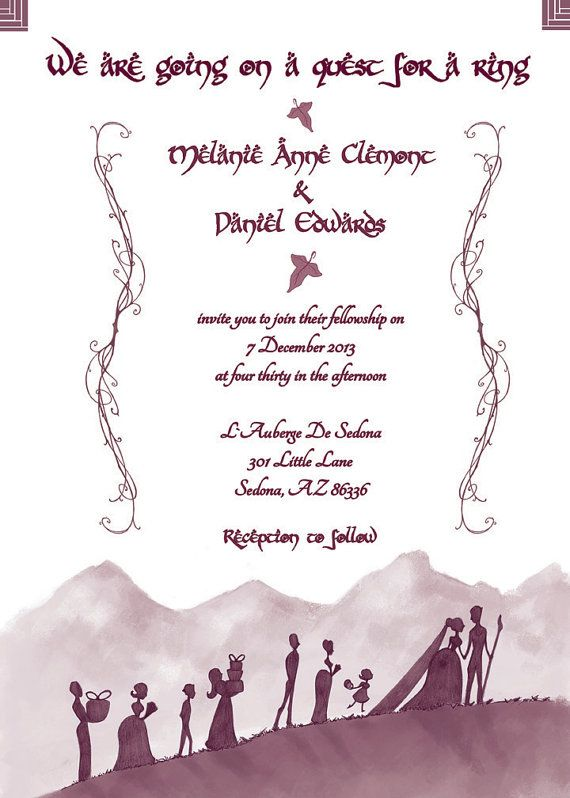 Lord Of The Rings Wedding Invitations By AwkwardAffections On Etsy, $40.00  IS IT BAD THAT I REALLY WANT THESE...? HEE HEE | Stuffies | Pinterest |  Lord, ...