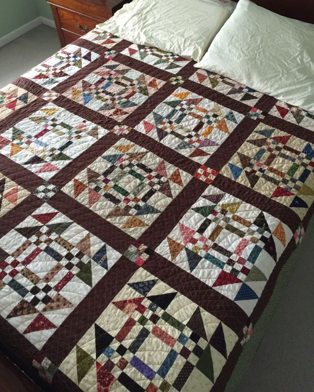 Finish It Up Friday ~ Goose in the Pond | KatyQuilts