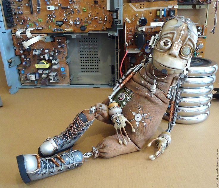 Купить Инопланетный странник. - коричневый, пришелец, авторская игрушка, ручная работа, авторская кукла