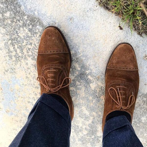 04307b3bc7f Westfield in Tobacco Suede - photo credit @garypalmer_and_co ...
