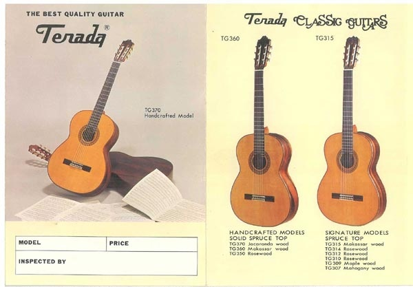 Terada guitars catalog