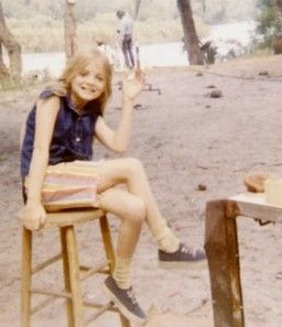 Alison Arngrim on the set
