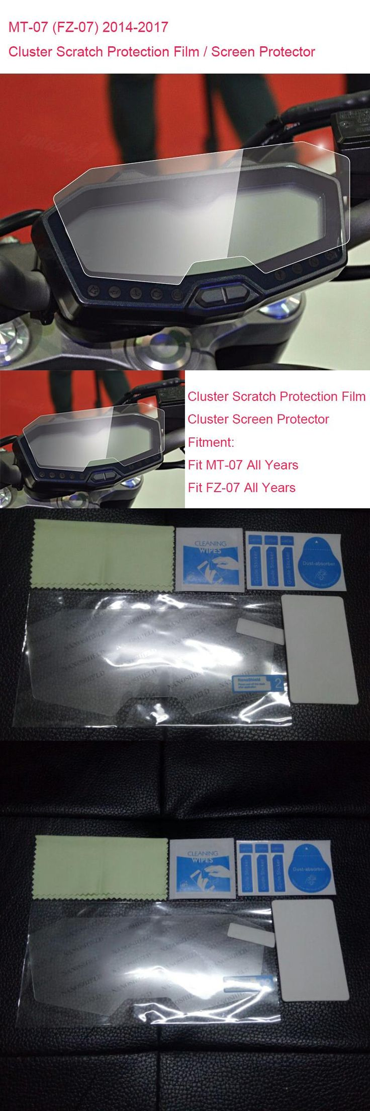 [Visit to Buy] New For Yamaha MT-07 FZ-07 MT07 Cluster Scratch Protection Film Screen Protector for Yamaha FZ07 MT 07 2014 2015 2016 2017 #Advertisement