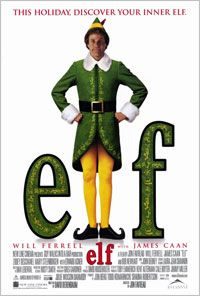 Elf Film Locations - On the set of New York.com    Buddy (Will Ferrell) was a baby in an orphanage who stowed away in Santa's sack and ended up at the North Pole. Later, as an adult human who happened to be raised by elves, Santa allows him to go to New York City to find his birth father, Walter Hobbs (James Caan). Hobbs, on Santa's naughty list for being a heartless jerk, had no idea that Buddy was even born.