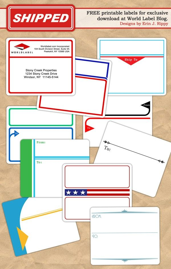 free address label templates - 202 best label freebies other printables images on