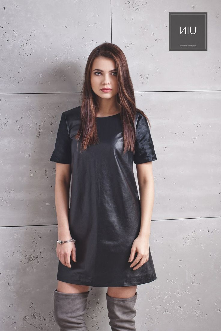 Leather BLACK dress.