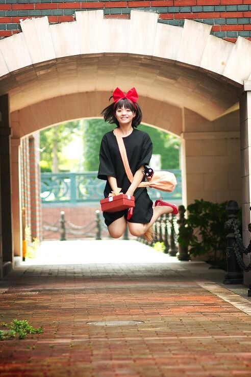 Kiki from Kiki's Delivery Service - love the jumping photo :)