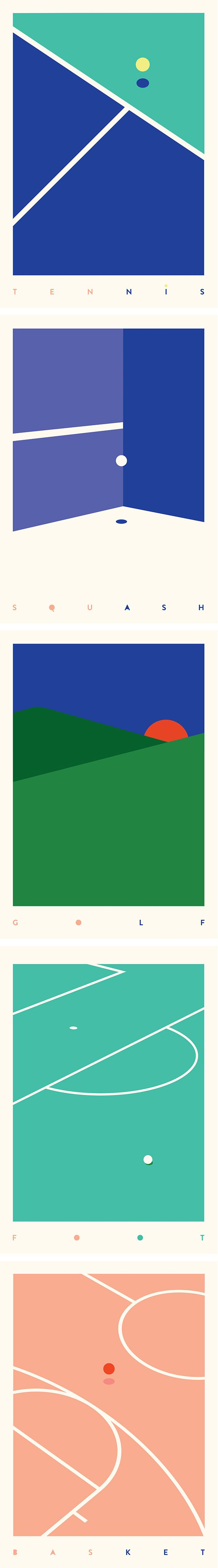 these minimalist posters convey a sense of order and direction and also not too obtrusive so being quite reserved.
