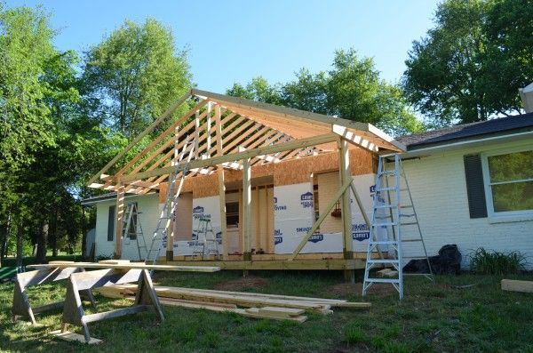 Adding A Front Porch To Brick Ranch
