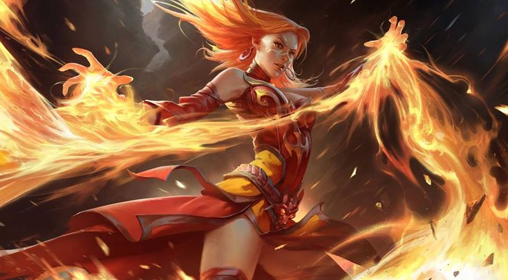 Linia is a fantasy fire warior who uses fire magic.