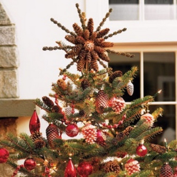 Pine Cone Christmas Tree Topper