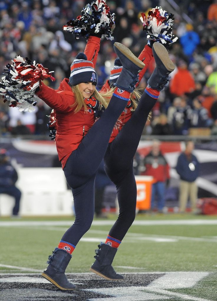 Cheerleaders Perform During Patriots-Bills Game   New England Patriots