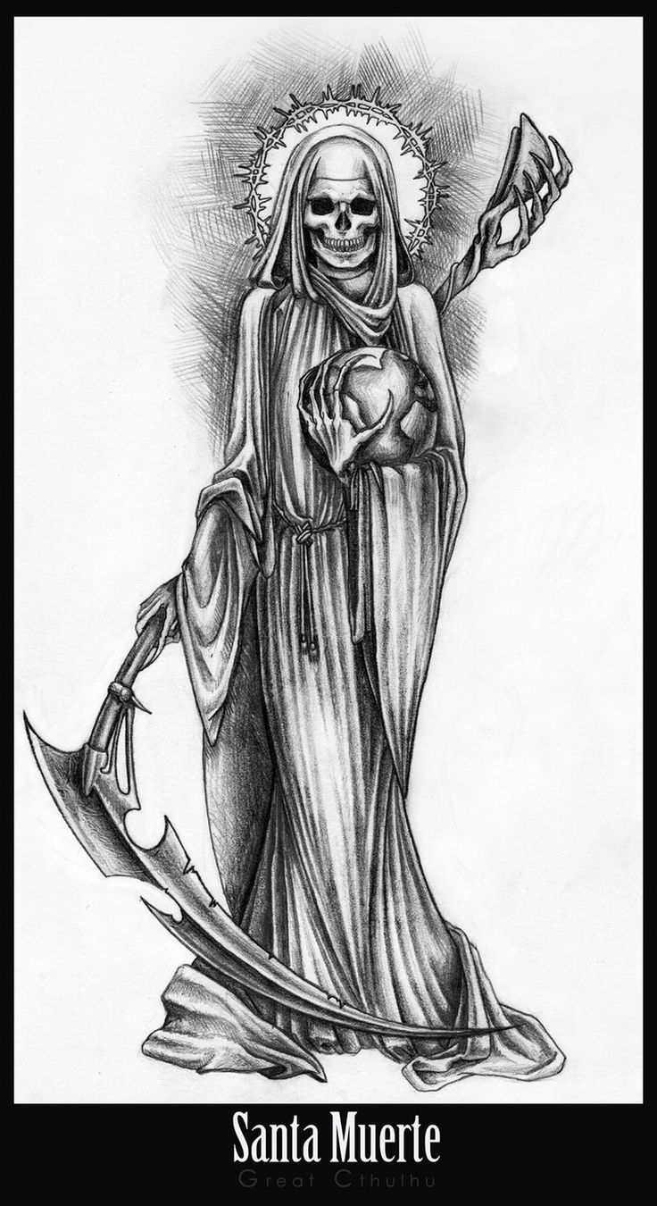 Ms de 25 ideas increbles sobre Santa muerte en Pinterest  Santa