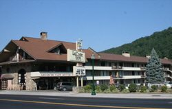 LeConte View Motor Lodge in Downtown Gatlinburg Tennessee...Easy walking to everything in Gatlinburg. Right on the main street.