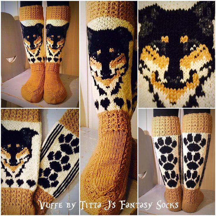 Vuffe -socks by Titta J's Fantasy Socks