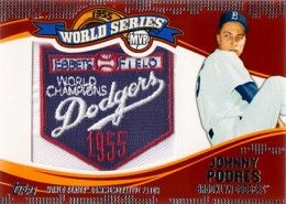 2014 Topps Update Series World Series MVP Patch Johnny Podres