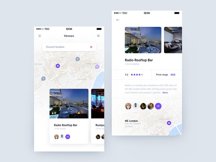 Hello everyone, welcome to my daily design challenge! Day 012 - Nearby Venues. Real pixels in attachment. If you want to show me some love press L! Constructive feedback appreciated. And also d...