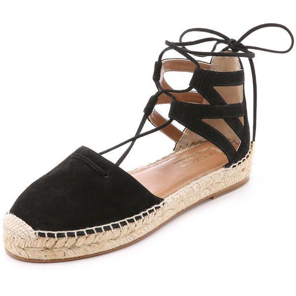 115866c37b5 Aquazzura Belgravia Suede Espadrilles ( 500) ❤ liked on Polyvore featuring  shoes