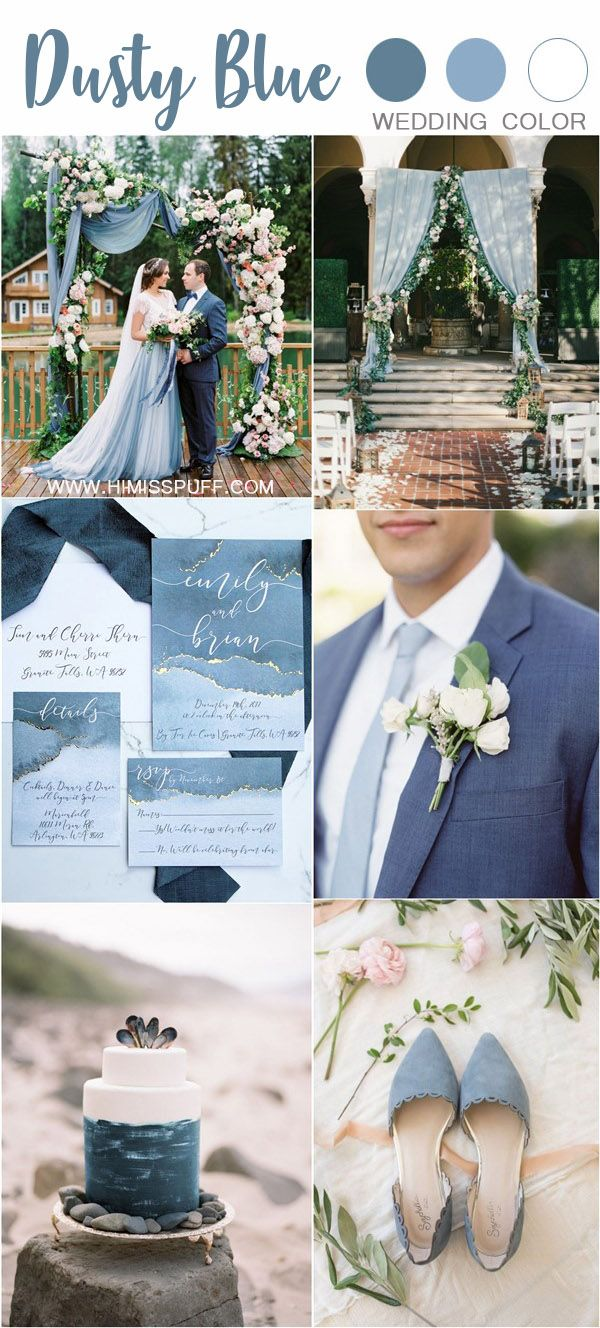 50 Dusty Blue Wedding Color Ideas For 2020 White Wedding Theme Wedding Colors Blue Wedding Color Palette