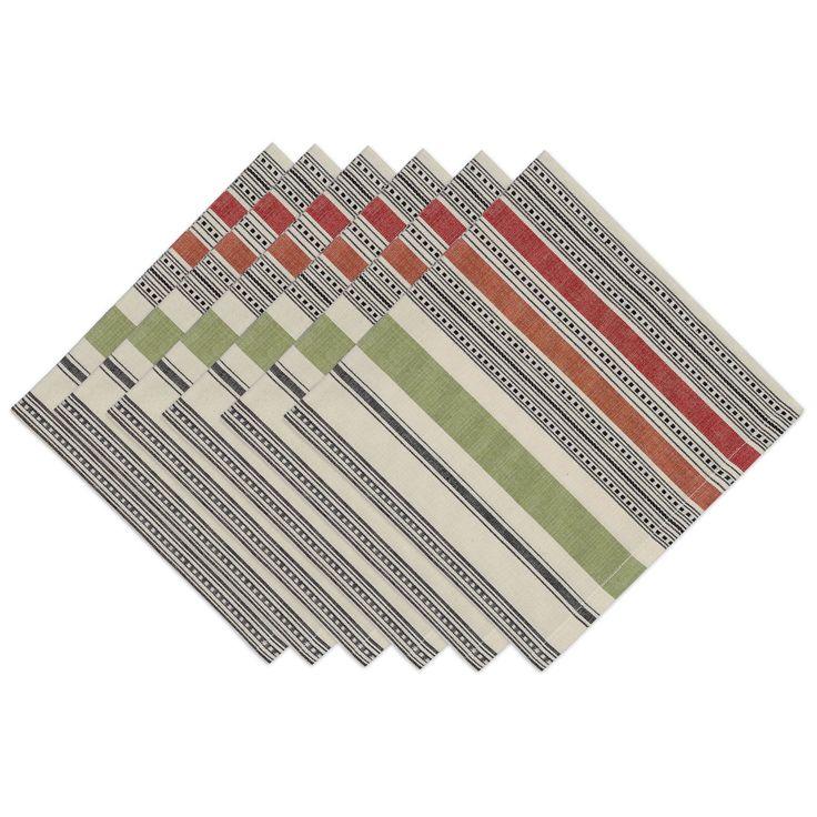 Mediterranean Stripe Napkin (Set of 6) (Mediterranean Stripe Napkin Set of 6), Blue