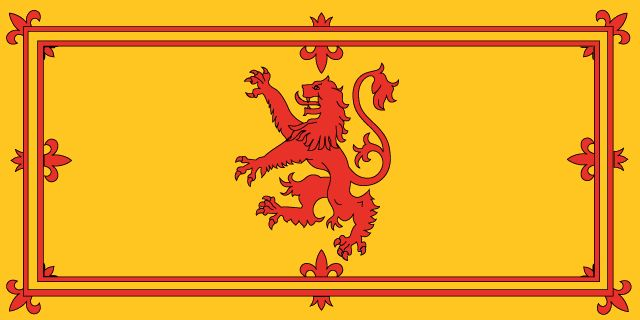 The Royal Standard of Scotland, also known as the Banner of the King of Scots, or more commonly the Lion Rampant of Scotland, is the Scottish Royal Banner of Arms. Its correct use is restricted by an Act of the Parliament of Scotland to only a few Great Officers of State who officially represent The Sovereign in Scotland. Scotland has not had its own monarchy since the Act of Union with England in 1707. Queen Elizabeth II is monarch of United Kingdom of Great Britain and Northern Ireland.