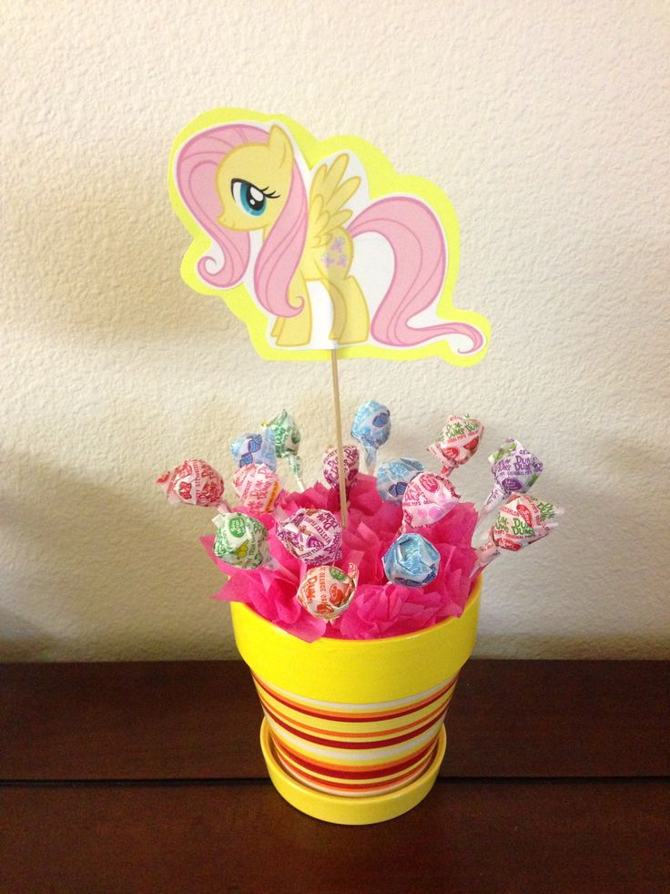 Fluttershy my little pony table decoration my for Decoration de table