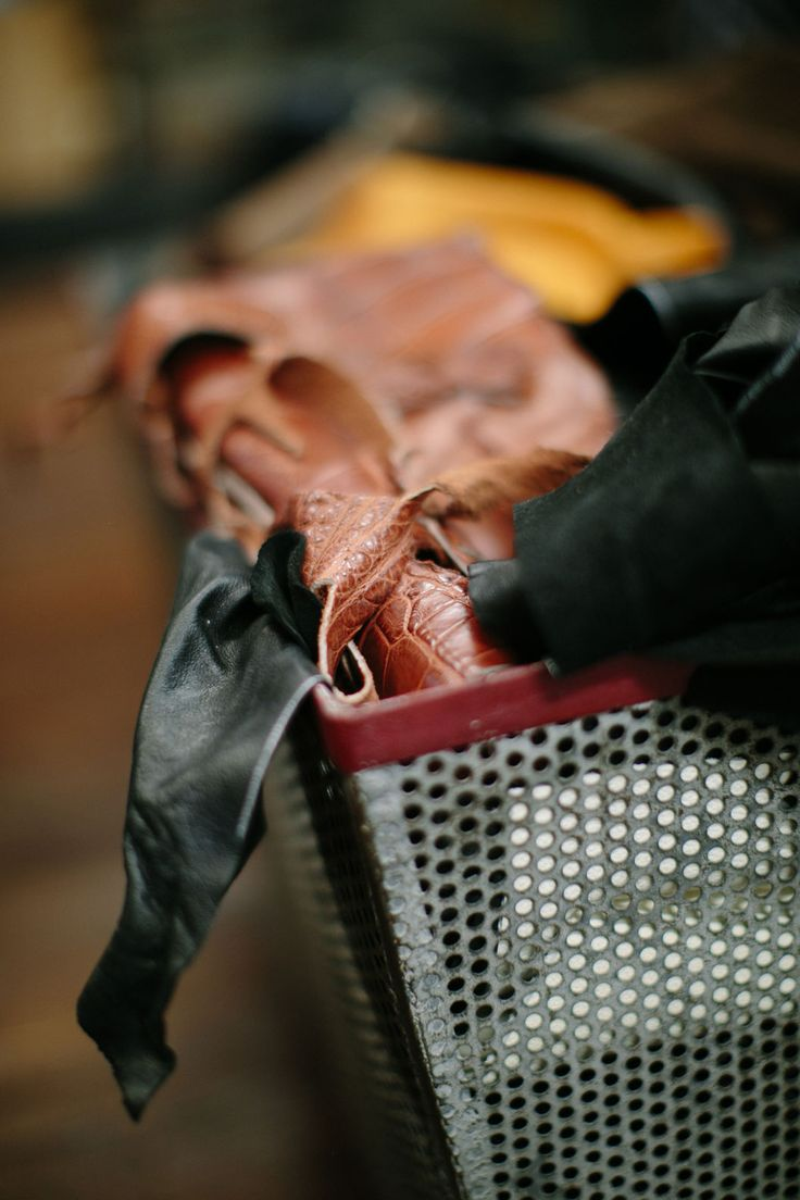 An assortment of premium leathers.