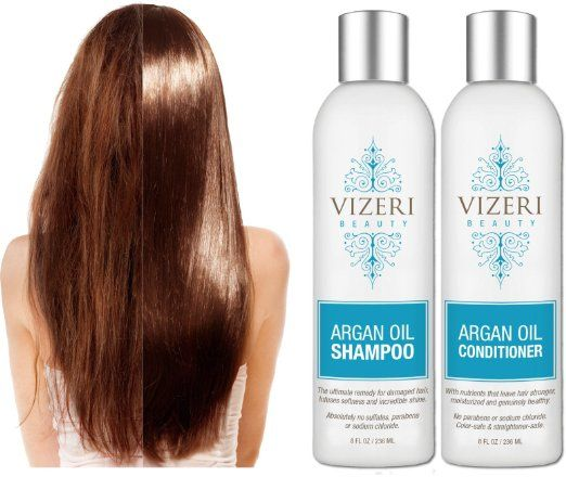 Amazon.com : Sulfate Free Argan Oil Shampoo and Conditioner: Sodium-Chloride-Free, Alcohol-Free, Paraben-Free, Natural Sun Protection…