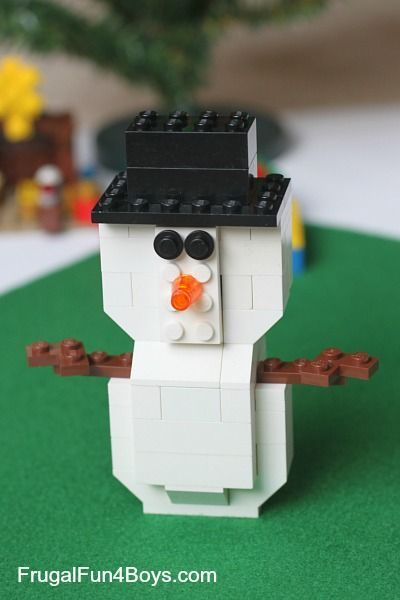 How to Build a Lego Snowman Got Legos? Here are some building instructions for creating a Lego snowman. This snowman is part of our Five Lego Christmas Projects, but since this one requires more steps to build, it gets its own post. Step 1: Start with a flat 2 x 4 brick. Step 2: Add …