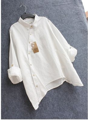 Рубашка женская льняная косой крой за 2 688 руб. в Красноярске.